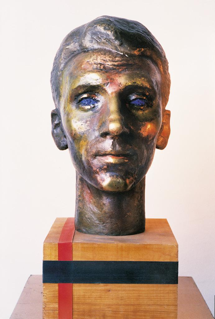 Man's head 1990  320x200x200