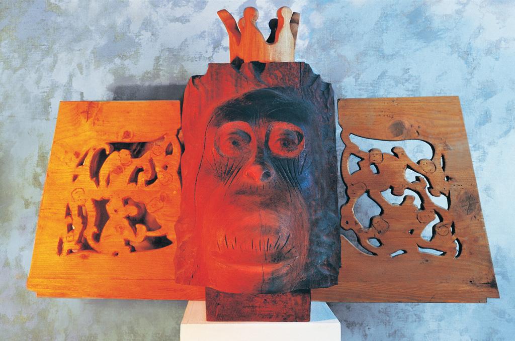 Orang-Utan (Holz) 1992  500x900x400