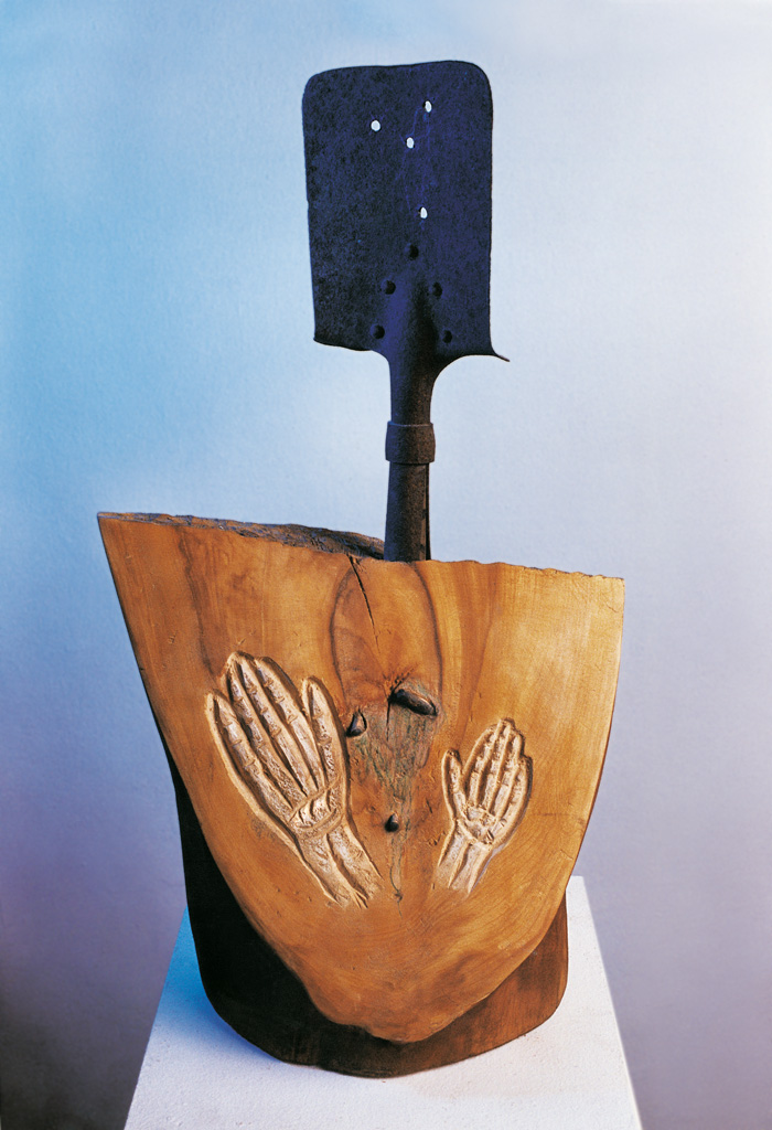 Tracks of battles (wood, metal) 1993  750x300x250
