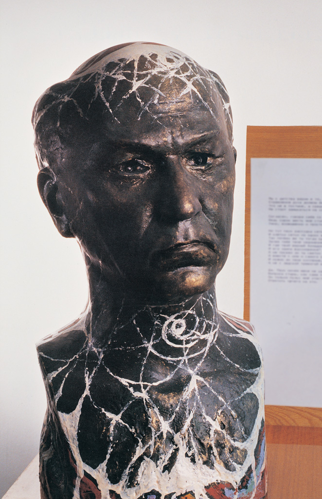 Self-portrait (colourical plaster) 1993  400x250x200