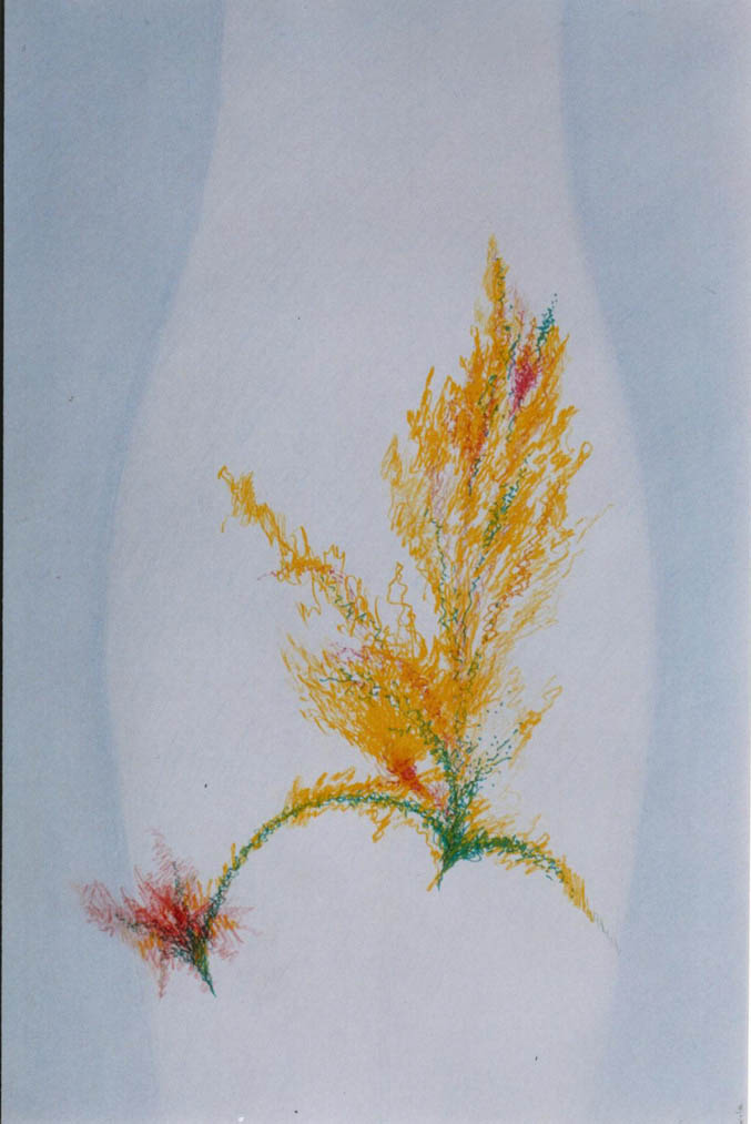 Autumn Motif (Colour pencil, Chinese pen)  600 x 400
