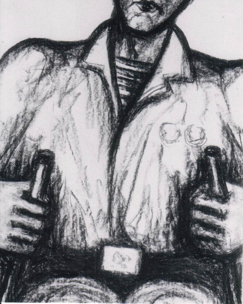 War-disabled Person (Charcoal)  520 x 400
