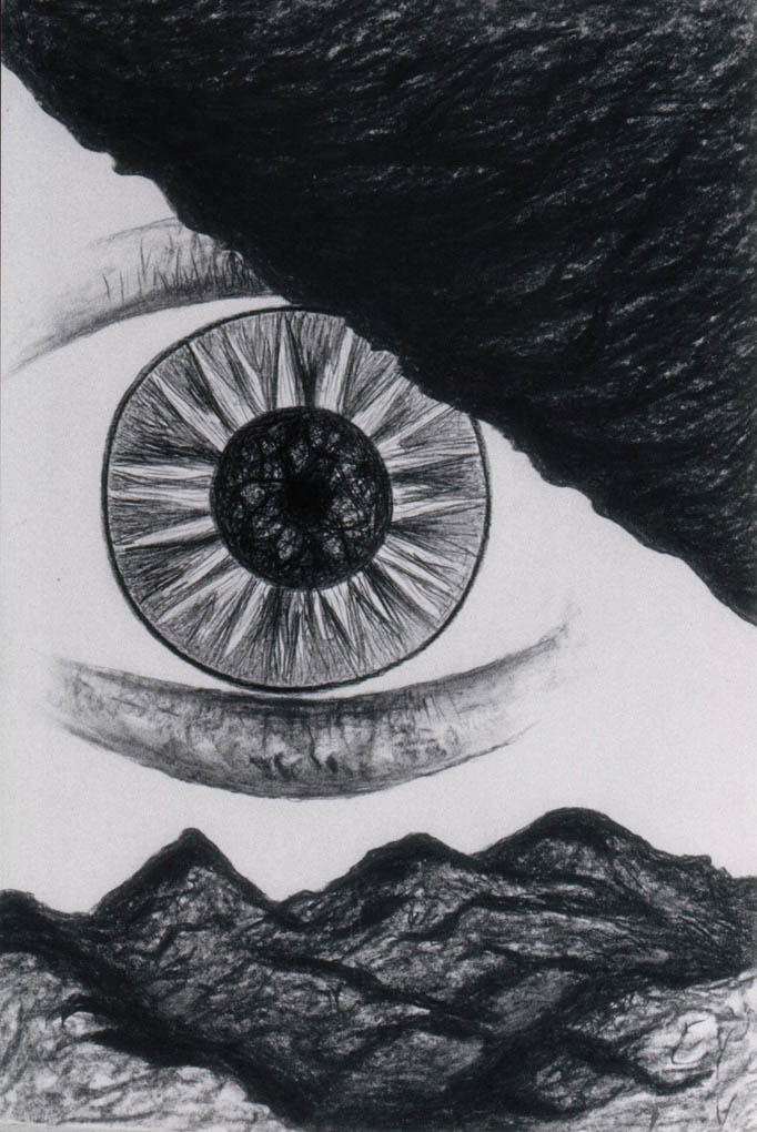 Spiritual Visions of the old Armenian (Charcoal)  600 x 400