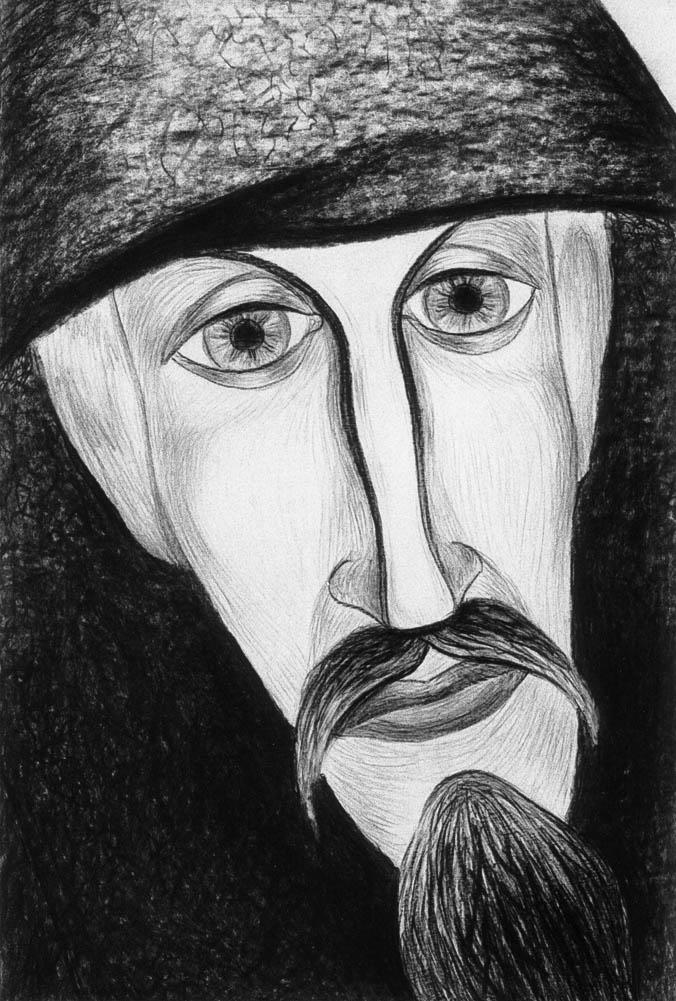 Grigori Narekazi (Charcoal)  600 x 400