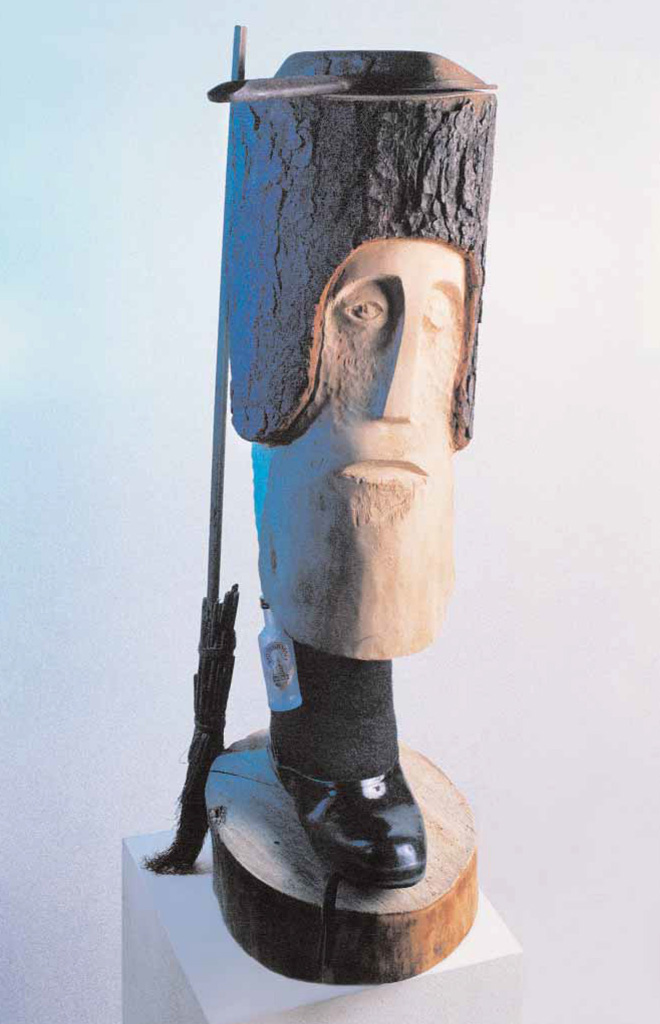 The housekeeper Potapych (wood, metal, thick felt) 1996  550x200x350