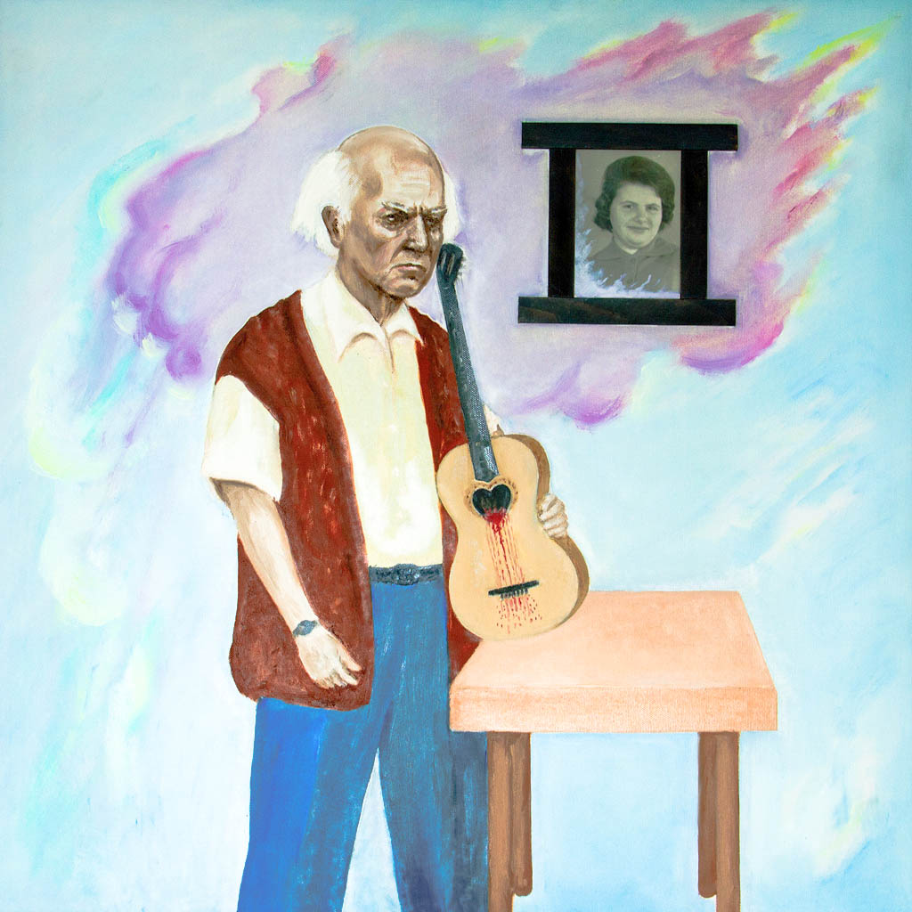 Cry, my seven-stringed guitar (canvas, oil) 500х450
