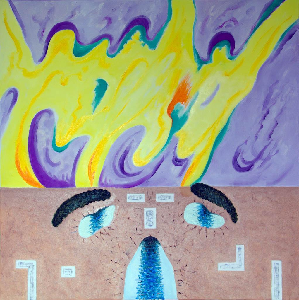 Northern Lights (canvas, oil) 500х450