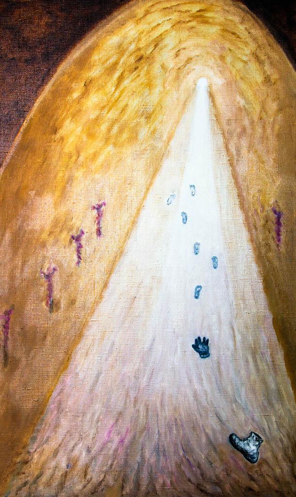 Ray of hope (canvas, oil) 500х800