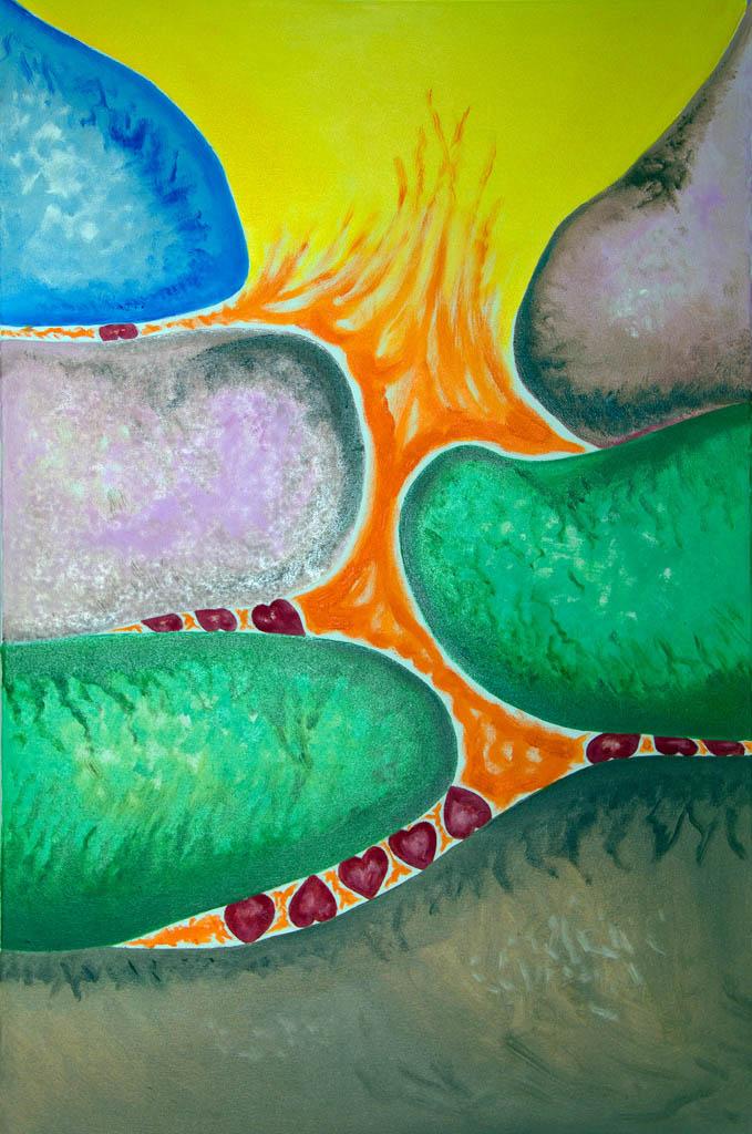 Millstones of art (canvas, oil) 600х500