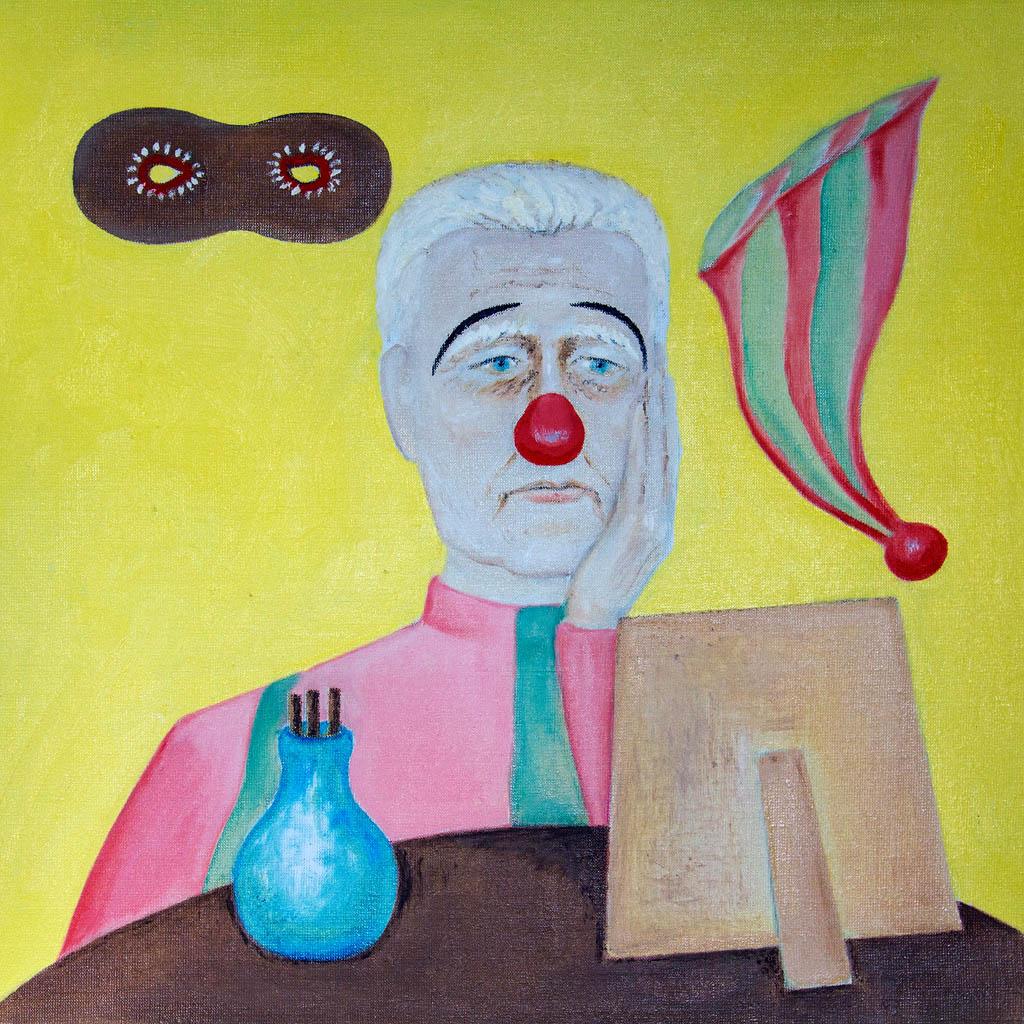 Old clown (canvas, oil) 500х500