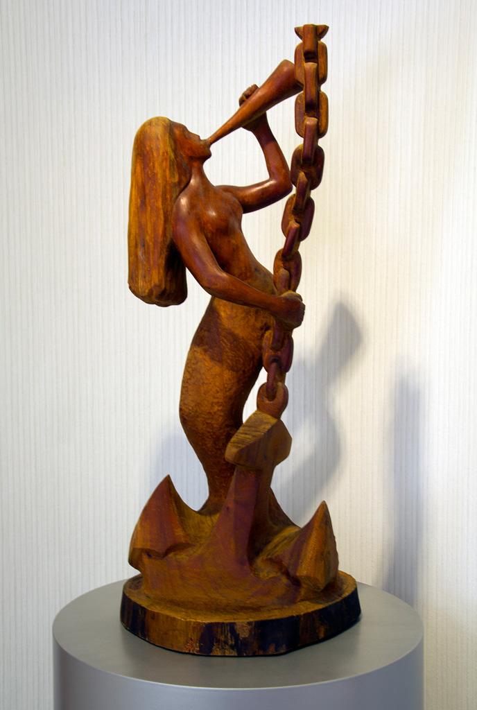 Siren, mahogany