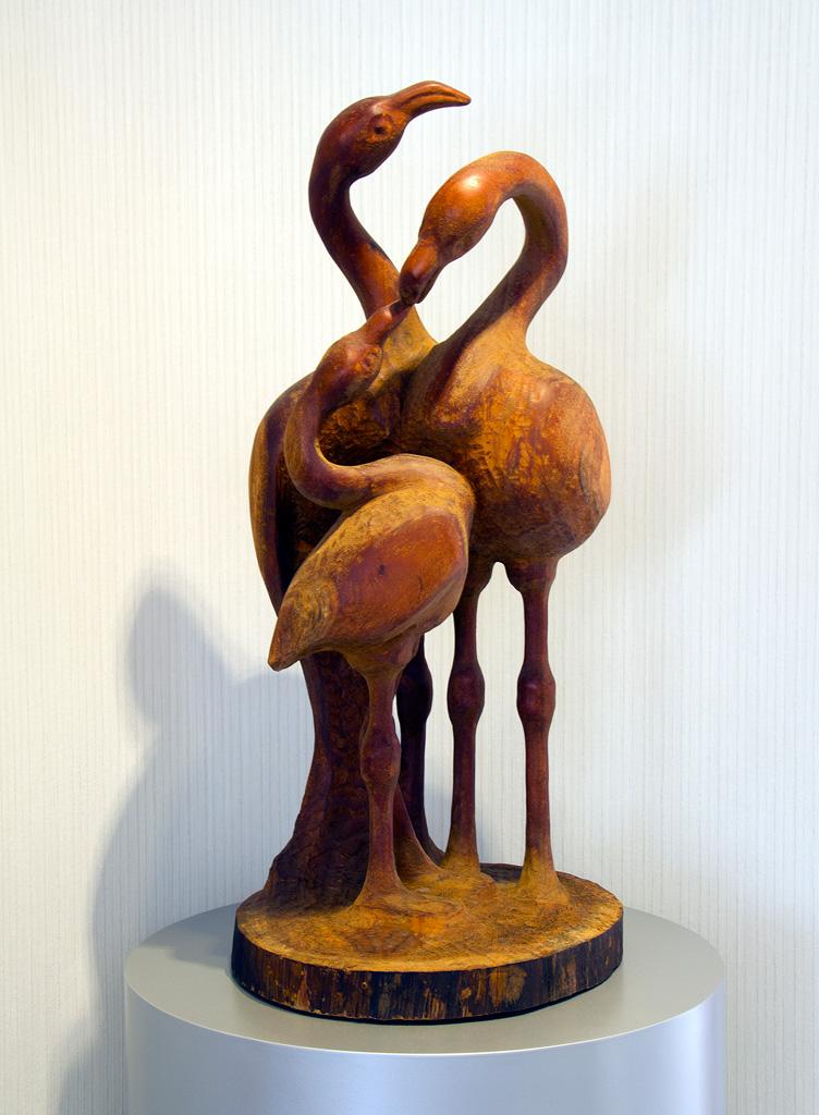 Flamingo, mahogany