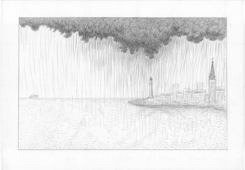La pluie sur la baie