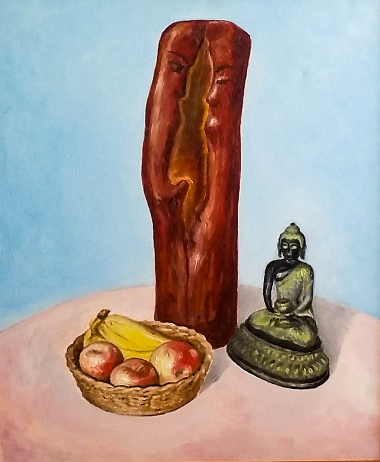 Still life with churochka (Canvas, oil)